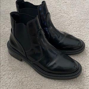 Zara black ankle booties 39